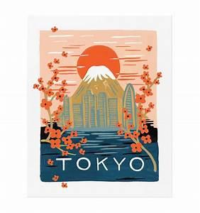 Bon Voyage Tokyo Art Print by RIFLE PAPER Co.
