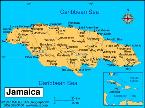 ocho rios jamaica ocho rios map jamaica map caribbean map