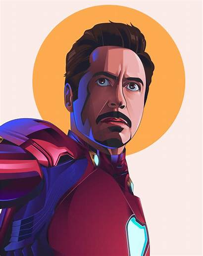 Iron Illustration Marvel Behance Stark Tony