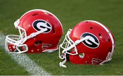 Bulldogs Georgia Football Uga Clemson Helmets Stadium