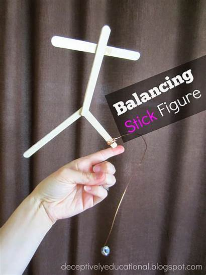Stick Balancing Figure Educational Fun Gravity Deceptively