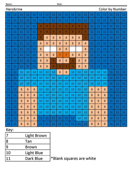 minecraft colors  print learning printable