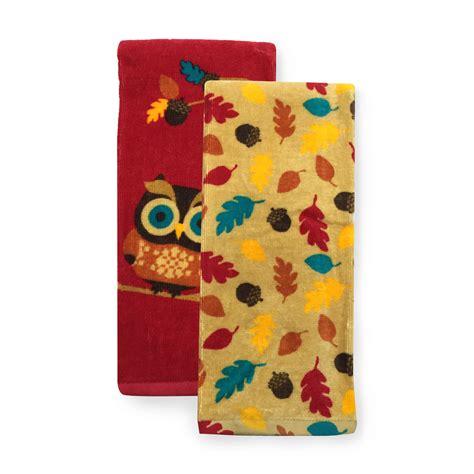 owl bathroom set kmart essential home 2 pk kitchen towels owl home kitchen