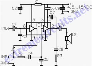 Super Simple 3 Watt Audio Power Amplifier Circuit Diagram