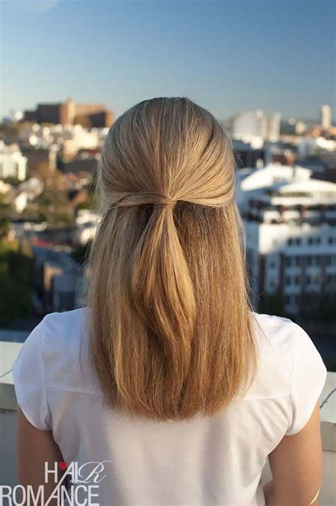 easy hairstyles straight hair ideas  pinterest