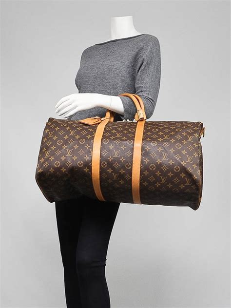 louis vuitton monogram canvas keepall bandouliere  bag