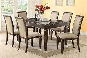 Marble dining room table sets home furniture design for Marble dining room furniture