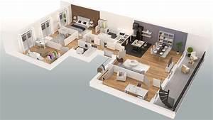 16 Wonderful Good Plan Maison 3d D U0026 39 Appartement 3 Pi U00e8ces