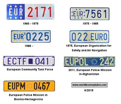License Plates Of The European Union