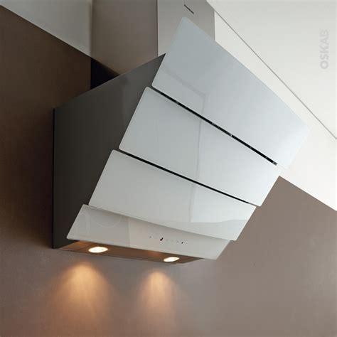 hotte de cuisine 60 cm hotte de cuisine aspirante inclinée 60 cm verre blanc
