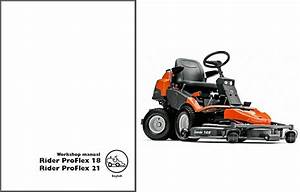 Husqvarna Rider Proflex 18 21 Ride Lawn Mower Workshop