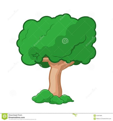 cartoon tree isolated royalty  stock image image