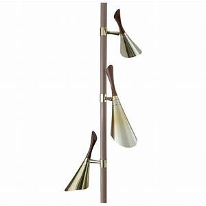 1950s 3 lights tension pole floor lamp for sale at 1stdibs With floor lamps with three lights