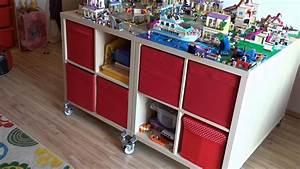 Lego Spieltisch Aus IKEA KALLAX Regalen YouTube