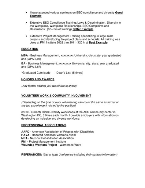 federal resume template free