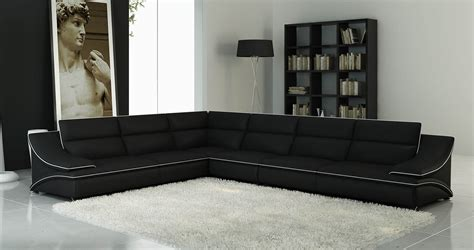 canape d angle noir et blanc deco in canape d angle cuir design noir et blanc