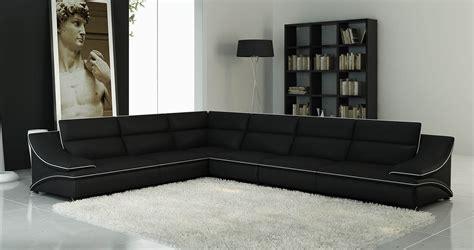 deco  paris canape dangle cuir design noir  blanc