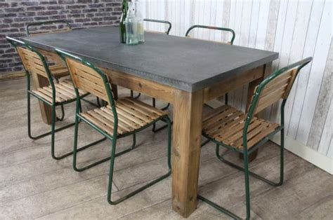 zinc top dining table uk zinc topped dining table