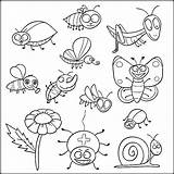 Coloring Pages Insect Insects Printable Bugs Colouring Preschool Adult حشرات Bug للتلوين Animal Pdf Ladybug Getdrawings Bee Heart Visit Friends sketch template