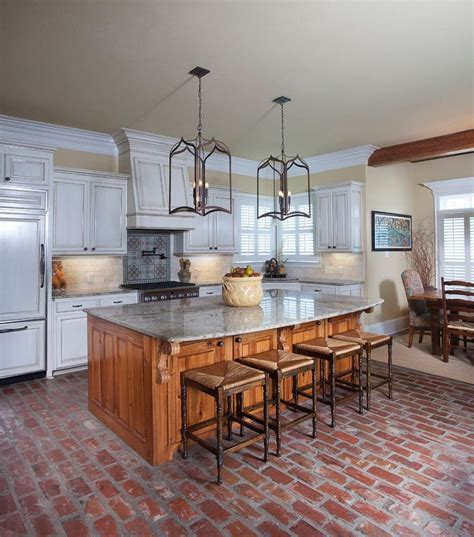 brick floor in kitchen best 25 brick floor kitchen ideas on kitchen 4883
