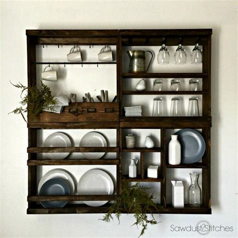 Pottery Barn Inspired Plate Rack   Sawdust 2 Stitches