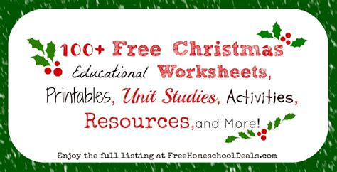 100 free educational worksheets printables unit studies activities resources and