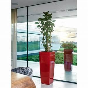 Pot De Fleur Haut Pas Cher : pot lechuza cubico alto premium l40 h105 cm rouge laqu gamm vert ~ Teatrodelosmanantiales.com Idées de Décoration