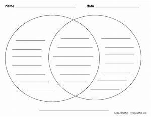 Venn Diagram Graphic Organizer  As A Center Idea To
