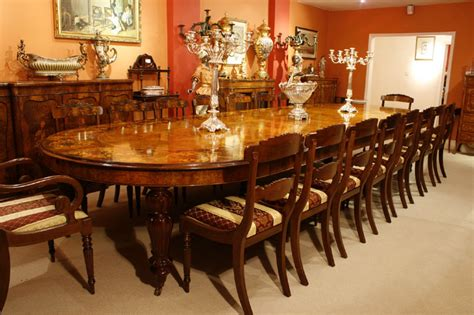 large marquetry dining table chairs set bespoke