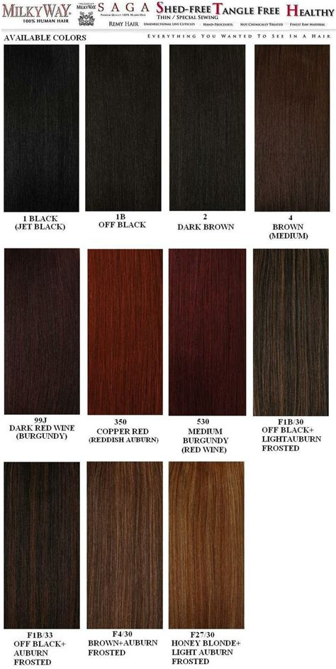 Hair Color Chart by Weave Hair Color Chart Sovinsl Weave Kanekalon Hair