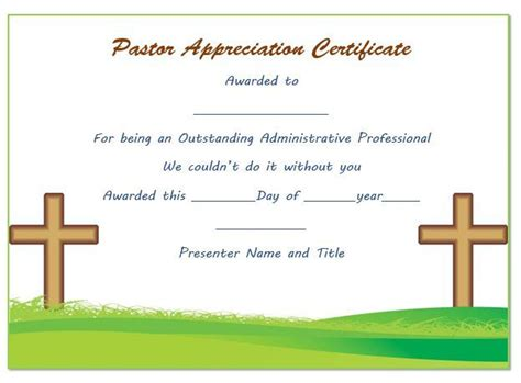 21 Best Pastor Appreciation Certificate Templates Images Pastor Appreciation Certificate Template Free 21 Best