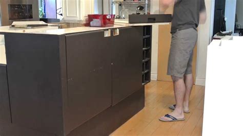 how to remove kitchen island removing kitchen island base timelapse 7335