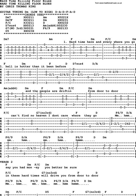 hard time killing floor blues bluegrass lyrics with chords