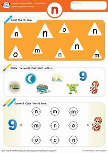 Car Wash Coloring Pages Letter Recognition Phonics Worksheet N Lowercase