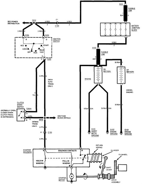1995 Chevrolet Starter Wiring Diagram by My 94 Silverado Will Not Without Jumping It At The