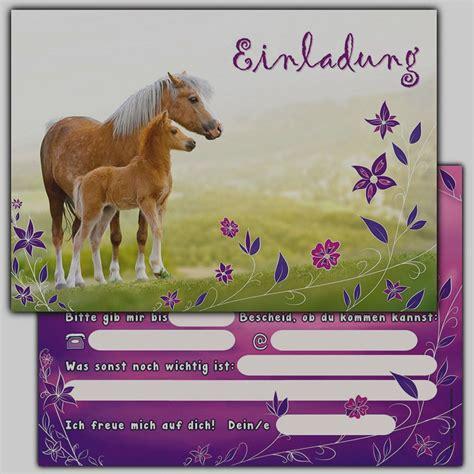 einladungskarten pferde kostenlos ausdrucken einladung