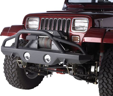 jeep wrangler yj rage products front recovery bumper with stinger for 87 06 jeep wrangler yj tj unlimited