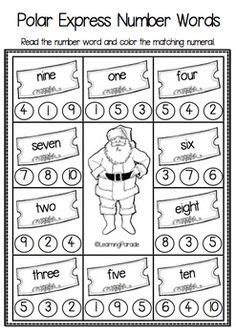 Kindergarten Math And Literacy Worksheets For December  Count, Kindergarten Math And Literacy