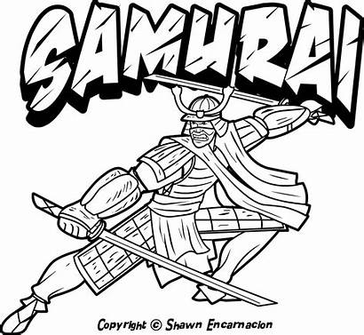 Coloring Japanese Pages Culture Warriors Warrior Samurai