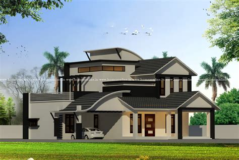Contemporary house on modern roof design types homezonline