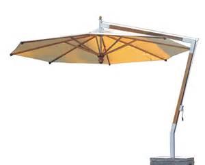 balkon sonnenschirme sonnenschirm fischer woodline ø 400 cm rund wood edition hanging parasol shop günstig