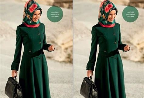 koleksi gambar model baju muslim kantor terbaru