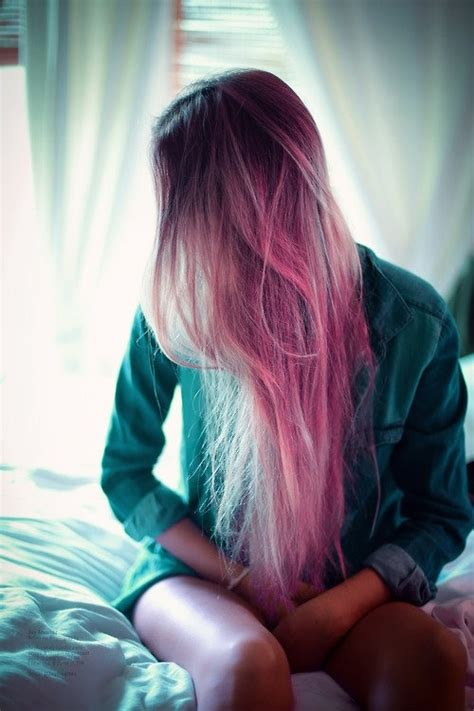 Hair Girl Beautiful Hipster Indie Pink Scene Dyed