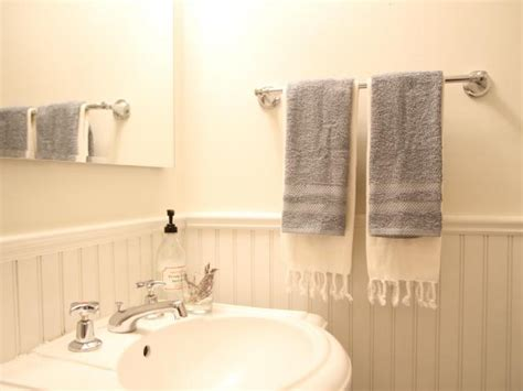 install  bathroom towel bar  tos diy