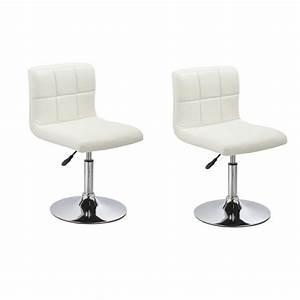 Lot de 2 chaises de salle a manger cuisine simili cuir for Salle À manger contemporaineavec hauteur table salle À manger