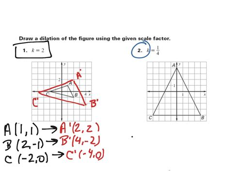 geometry dilation worksheet the best worksheets image
