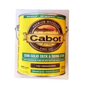 cabot semi solid deck siding stain cordovan brown