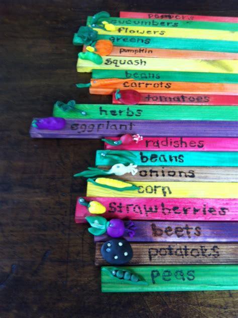 vegetable garden markers made for children s garden with