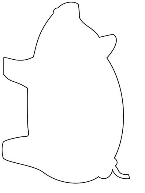 Pig Template For Preschoolers by Simple Shapes Coloring Pages Stencils And Fonts
