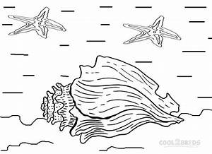Printable Seashell Coloring Pages For Kids